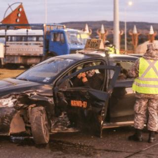 """PTA. ARENAS: Accidente en el """"Cruce de la Muerte"""" dejó a dos personas lesionadas"""