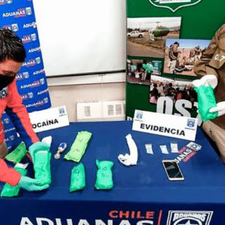 PTA. ARENAS: Aduanas detectó ingreso de más de dos kilos de cocaína en el aeropuerto