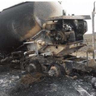PTO. SAN JULIÁN: Camión chileno se prendió fuego en territorio santacruceño