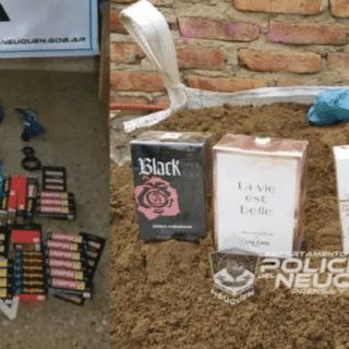 NEUQUÉN: Ladrones roban desde pegamento hasta perfumes importados