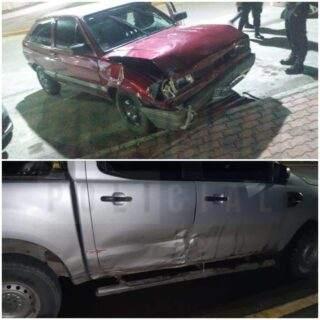 Accidente de tránsito entre dos vehículos en la ciudad de Ushuaia