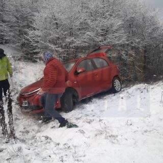 Despiste en la Ruta N° 3 por suerte no hubo personas lesionadas