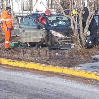 Un vehículo chocó contra un árbol en la zona de la costanera