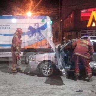 Dos conductores con aliento etílico protagonizaron violento choque en Ushuaia en el cual uno de ellos era acompañado por una mujer embarazada