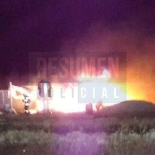 Se incendió una casa de pastura que estaban construyendo en la estancia Violeta