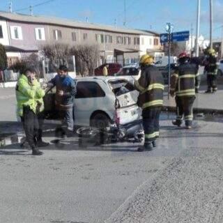 Segundo accidente del día donde interviene una motocicleta