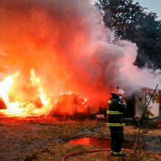PTA. ARENAS: Casa de estancia resultó destruida por el fuego en Río Verde