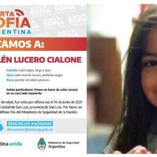 """Activaron el """"Alerta Sofía"""" por la niña de 5 años desaparecida desde el pasado lunes en San Luis"""