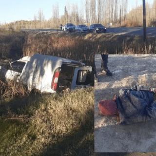 NEUQUÉN: Robó un utilitario y volcó sobre la Ruta 151 tras una persecución