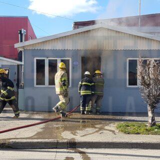 Incendio en una vivienda de la zona del casco viejo de la ciudad
