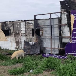 RÍO GALLEGOS: Se incendió el obrador del centro de monitoreo de la costanera e investigan si fue intencional