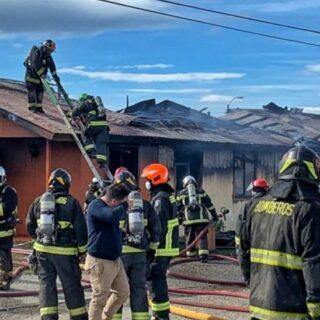 PTA. ARENAS: Incendio destruyó dos viviendas al interior de la villa de la Fuerza AéreaIncendio destruyó dos viviendas al interior de la villa de la Fuerza Aérea
