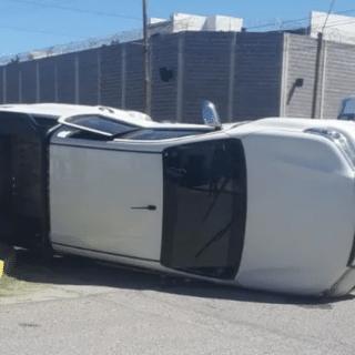 CDRO. RIVADAVIA: Choque y vuelco con una conductora alcoholizada